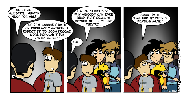 Beat up by Penny Arcade